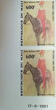 O) 1981 MALI,IMPERFORATE,  PAINTING PICASSO - ARLEQUIN A HORSE, SCOTT C34, MNH