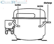 COMPRESSORE GAS R600A HP 1/4 TIPO ACC HMK12AA O HTK12AA ASPERA EMBRACO NBM1118Y