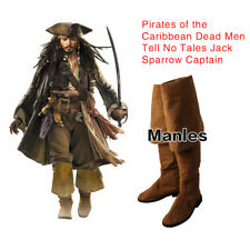 Pirates of the Caribbean Cosplay Jack Sparrow Captain Men Boots Halloween Shoes