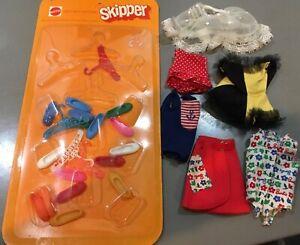 Vintage 1960s Skipper MIP shoes & hangers + tagged clothes (Barbie)