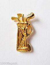Golf Bag & Clubs Small Gilt Pin Badge - FG46