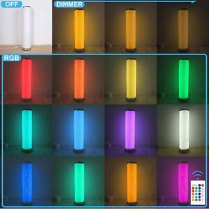 LED Floor Lamp Dimmable Remote Control RGB 7 Color Changing,5W,300lm,Energy Save