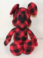 Disney Mickey Mouse X AE American Eagle Special Edition Plush Doll Red Plaid