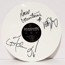 """MEGADETH Dave Mustaine +3 Signed """"The Threat Is Real"""" Album LP BECKETT  #A73074"""