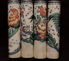 Lot of 4  FABLON SELF ADHESIVE CUT BORDER Blue/Green/Brown=Rooster+Flower=65 Ft.