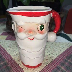 "Vintage 1959 Holt Howard winking Santa pitcher 6"" tall"