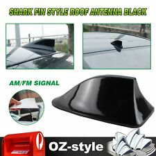 Shark Fin Decorative Antenna AM/FM Signal Roof Aerial Replace  Universal Black