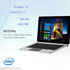 "CHUWI Hi10 Pro Ultrabook Tablet PC 10.1"" Win 10 + Android 5.1 Quad Core 4GB 64GB"