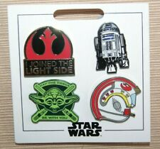 Disney Disneyland Star Wars Light Side Yoda May the Force 4 Pin Mini Booster Set