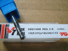 "1/8""x3/8""LOCx1 1/2""OAL W/.015R V7 4FLT Carbide End Mill, YG-1 Aitin coat ""NEW"""