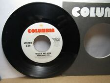 Old 45 RPM Record - Columbia 3-10275 - Willie Nelson - Remember Me (stereo&mono)