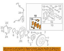 KIA OEM 12-13 Soul Brake-Front Pads 581012KA51