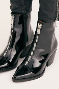 New Free People + Jeffrey Campbell Landyn Zip Front Boots size 6.5 MSRP: $168