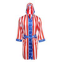 1 Pcs Rocky Balboa Mens Movie Boxing Costume Robe American Flag Boxer