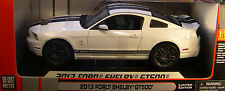SHELBY 1:18 SCALE DIECAST METAL WHITE 2013 FORD SHELBY GT500 MUSTANG