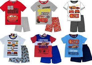 Boys Kids Children Disney Cars Pyjamas T-Shirt Shorts Set pjs Age 2-8 years