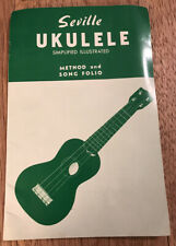 Vintage Seville Ukulele Simplified Illustrated Method And Song Polio Booklet