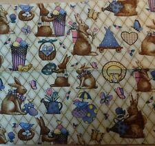 Patchwork Stoff Baumwolle Ostern Debbie Mumm Reststück Osterhase Dekostoff