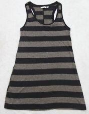 New Look Sleeveless Tank Top T-Shirt Women's 12 Black Gold Crewneck Poly Blend