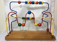 VTG EDUCO Twin Twister Wooden Bead Maze Roller Coaster Toy Canada