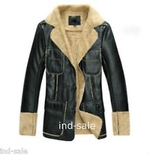 Custom Tailor Made All Size Genuine Blazer Pea Coat Nappa FUR Leather Jacket 1