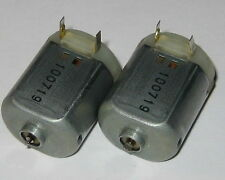 2 X Miniature Project DC Motors - Mabuchi FC-130 - 12 VDC - 4800 RPM Short Shaft