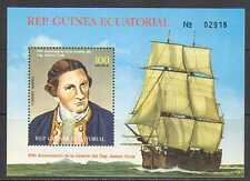 Equatorial Guinea Capt Cook 200th/Boat/Sail m/s n23053