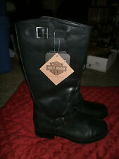 HARLEY DAVIDSON NEW WITH TAGS GENUINE LEATHER BOOTS 1 INCH HEEL