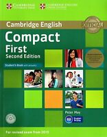 Cambridge COMPACT FIRST FCE 2nd Ed Exam fr 2015 Student Book +CD+Class Audio NEW
