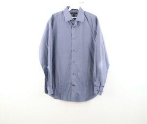 Banana Republic Mens Medium Non Iron Camden Fit Geometric Button Dress Shirt