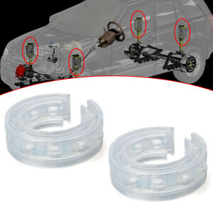 2 × Type-B White Car Rubber Shock Absorber Spring Bumper Buffer Power Cushion