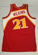 DOMINIQUE WILKINS Mitchell & Ness ATLANTA HAWKS 1986 87 AUTHENTIC Jersey 44 L
