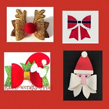 Christmas Bundle Plastic Hair bow templates Santa Elf Reindeer Xmas