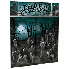 Cemetery Halloween Haunted Graveyard Party Scene Setter Wall Decorating Kit