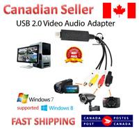 4 Channel USB 2.0 DVR Video Audio Capture Adapter Card DVD converter S video
