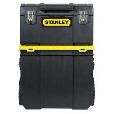 3-in1 Stanley Rolling Tool Box Job Site Chest Portable Toolbox Storage Wheels