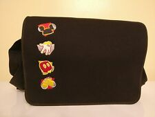 Authentic Disney Adult Mickey Mouse Black Embroidered Nylon Handbag Messenger