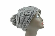 Leaf Knit Women's Baggy Beanie Oversize Winter Hat Ski Slouchy Chic Cap Skull