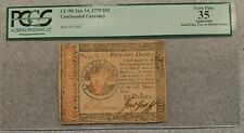 January 14, 1779 $55 Continental Currency Note PCGS VF-35 Apparent FR #CC-98