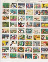 1978 Christmas Drawings Children of America TB Charity Seals Stamps Sheet R18216