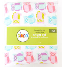 CIRCO FOREVER FOREST OWLS MICROFIBER BRUSHED SOFT 4 PIECE FULL SHEET SET