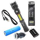 NEBO SLYDE KING 330 Lumen LED Flashlight 6434 USB rechargeable AC/CAR Chargers