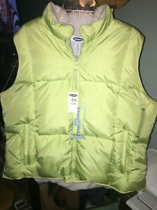 OLD NAVY Womens Frost Free Quilted Puffer Winter Down Jacket Coat XXL Lime Green