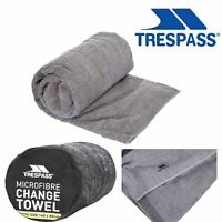 Trespass Grey Absorbent Quick Dry Microfibre Change Towel with Tabs