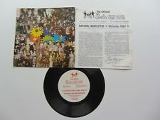 THE BEATLES  FAN CLUB FLEXI DISC RECORD 1967 CHRISTMAS TIME IS HERE AGAIN