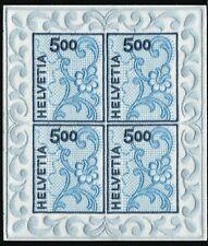 Switzerland 2000 St Gallen Embroidery Minisheet Mint Never Hinged CV £375