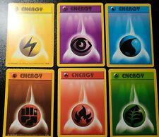 Pokemon Card Base set Energy lot - 6 basic types - all NM
