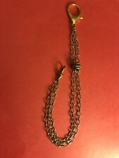 Chain With Accent Gold Tone Rare Double Strand Pocket Watch