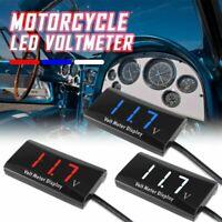 Voiture moto 12V affichage LED numérique voltmètre jauge tension panneau mètr D1