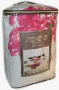ANTHOLOGY KING COMFORTER SET Blossom 3 PIECE NEW 1ST QUALITY Magenta Pink